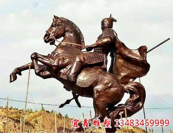 蒙恬将军铜雕塑